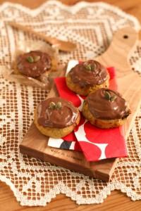 チョコ掛けクッキー